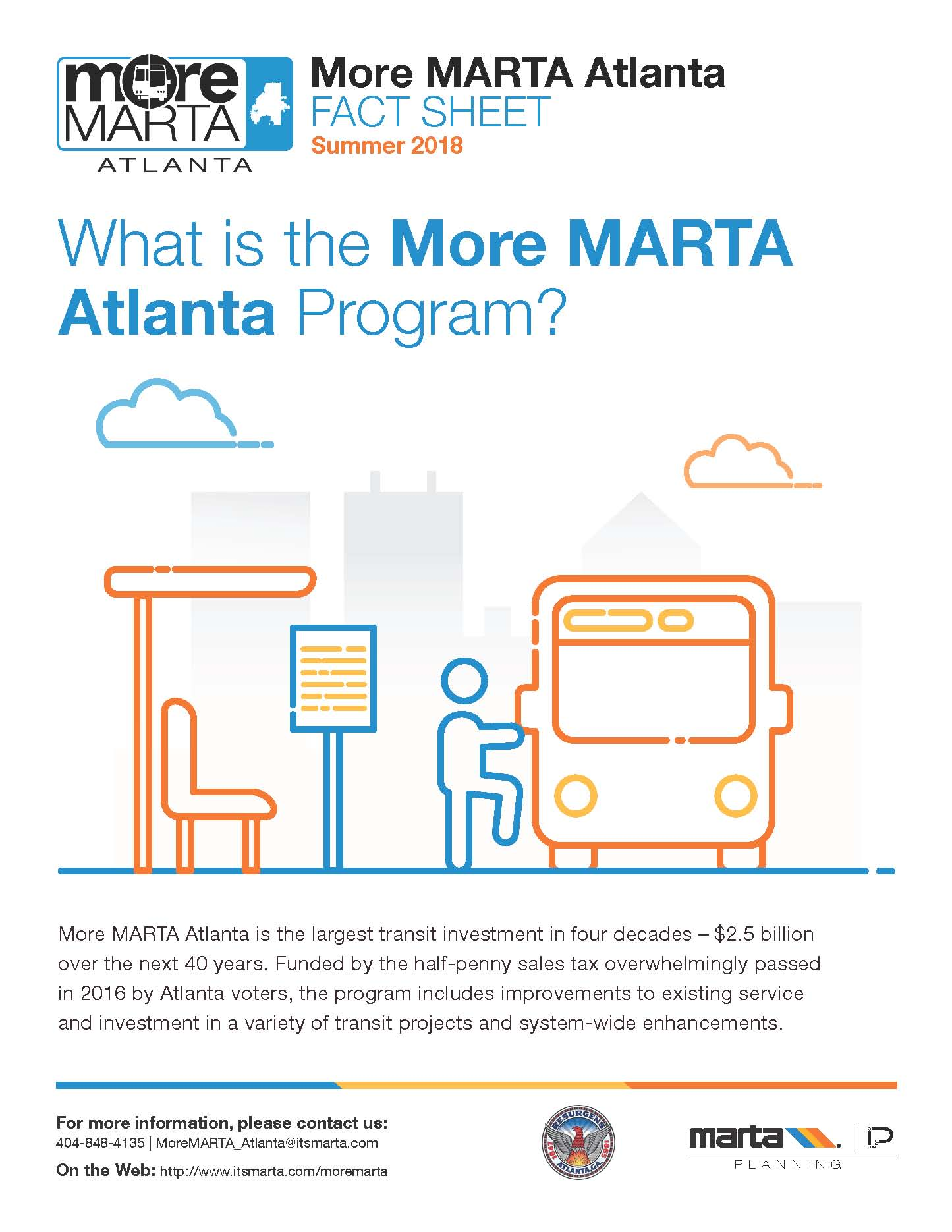 City of Atlanta More MARTA Fact Sheet Page 1