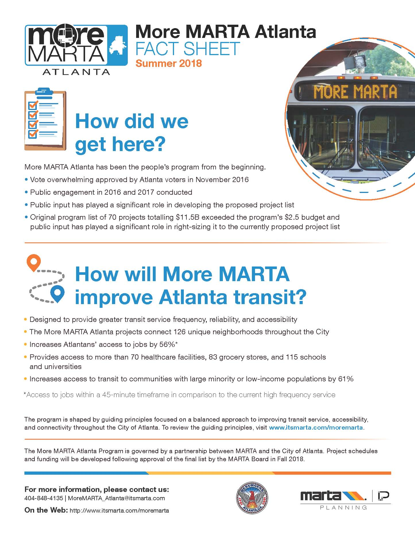 City of Atlanta More MARTA Fact Sheet Page 2
