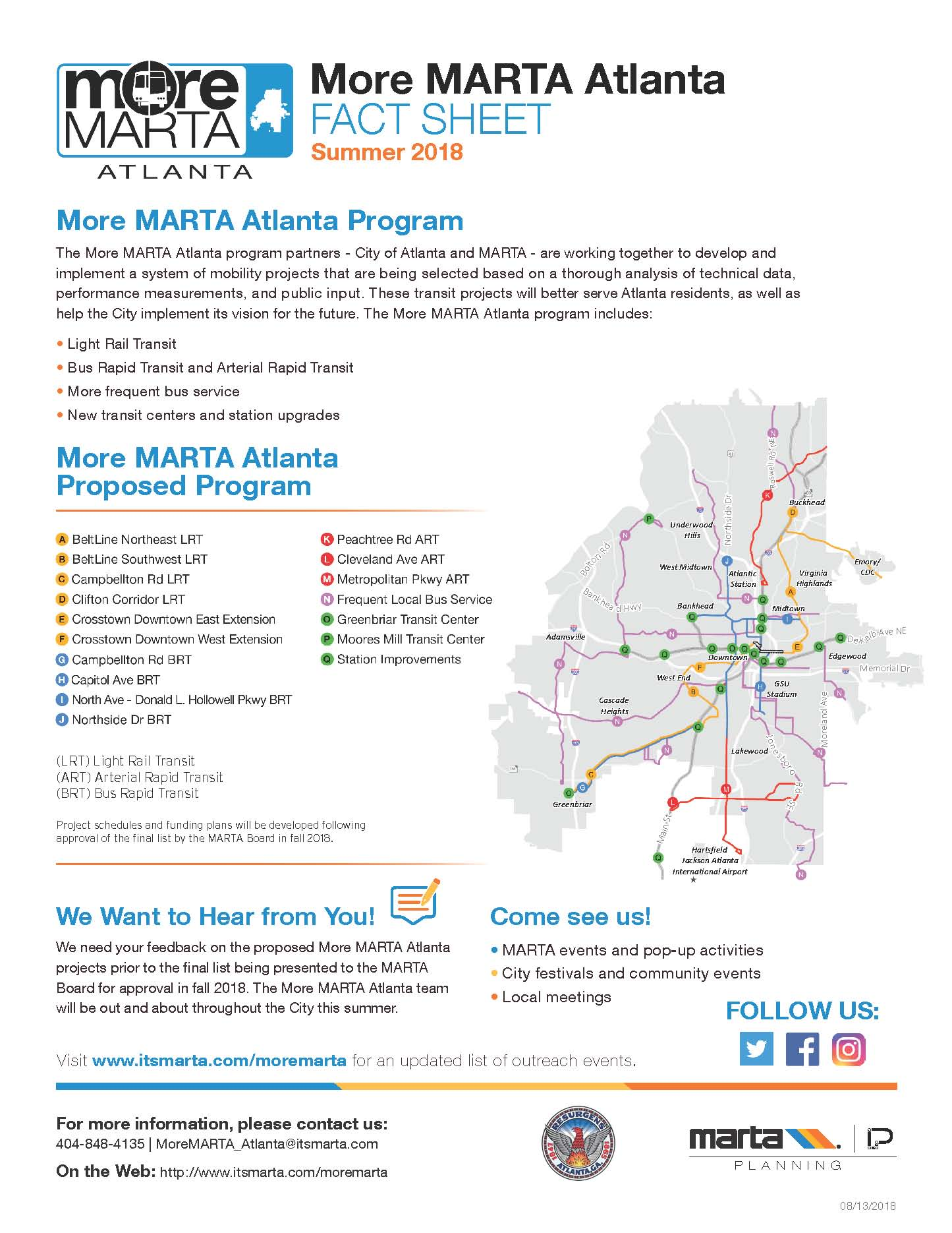 City of Atlanta More MARTA Fact Sheet Page 3