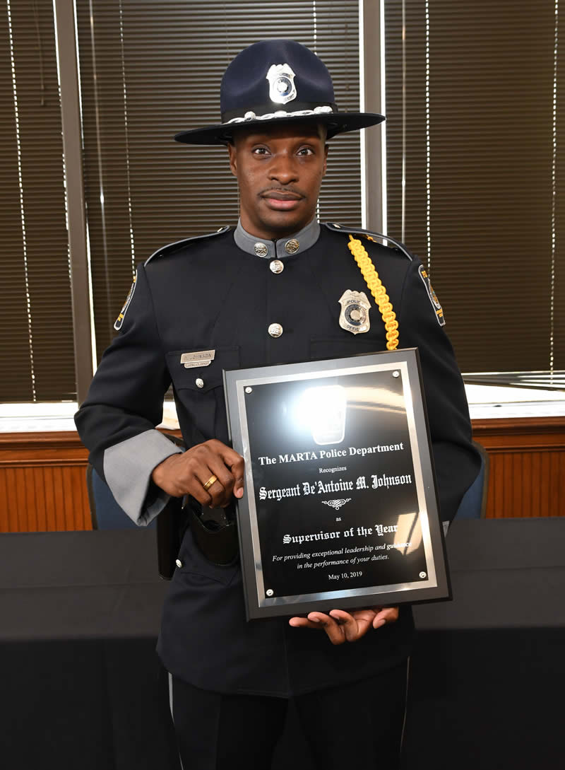 Supervisor of the year - Sergeant De'Antoine Johnson